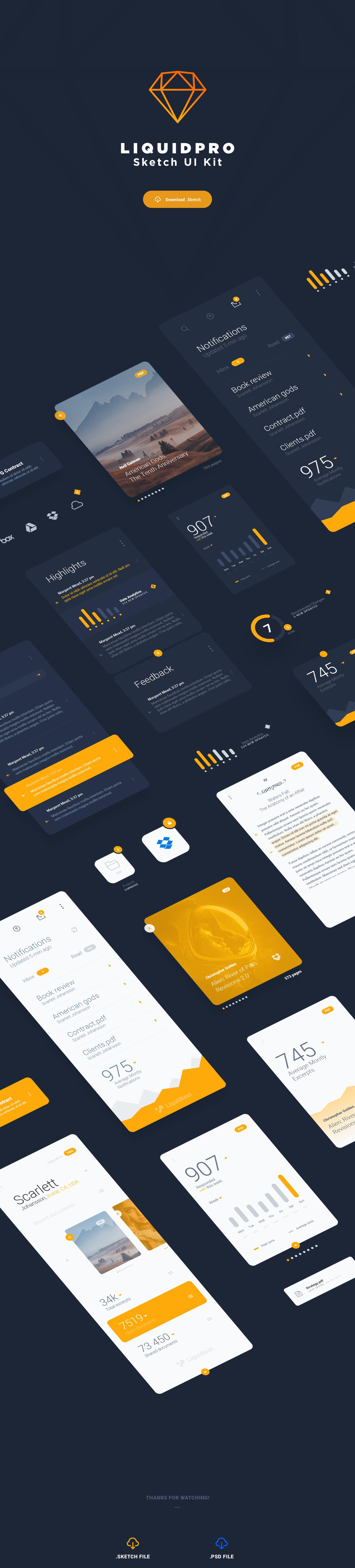 sketch kit UI ux Platform ios freebie application design free