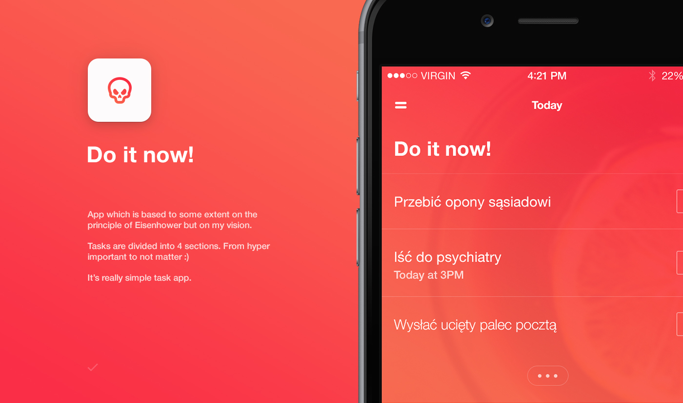 Adobe Portfolio UI ux apps mobile ios iphone task to do Interface interaction application