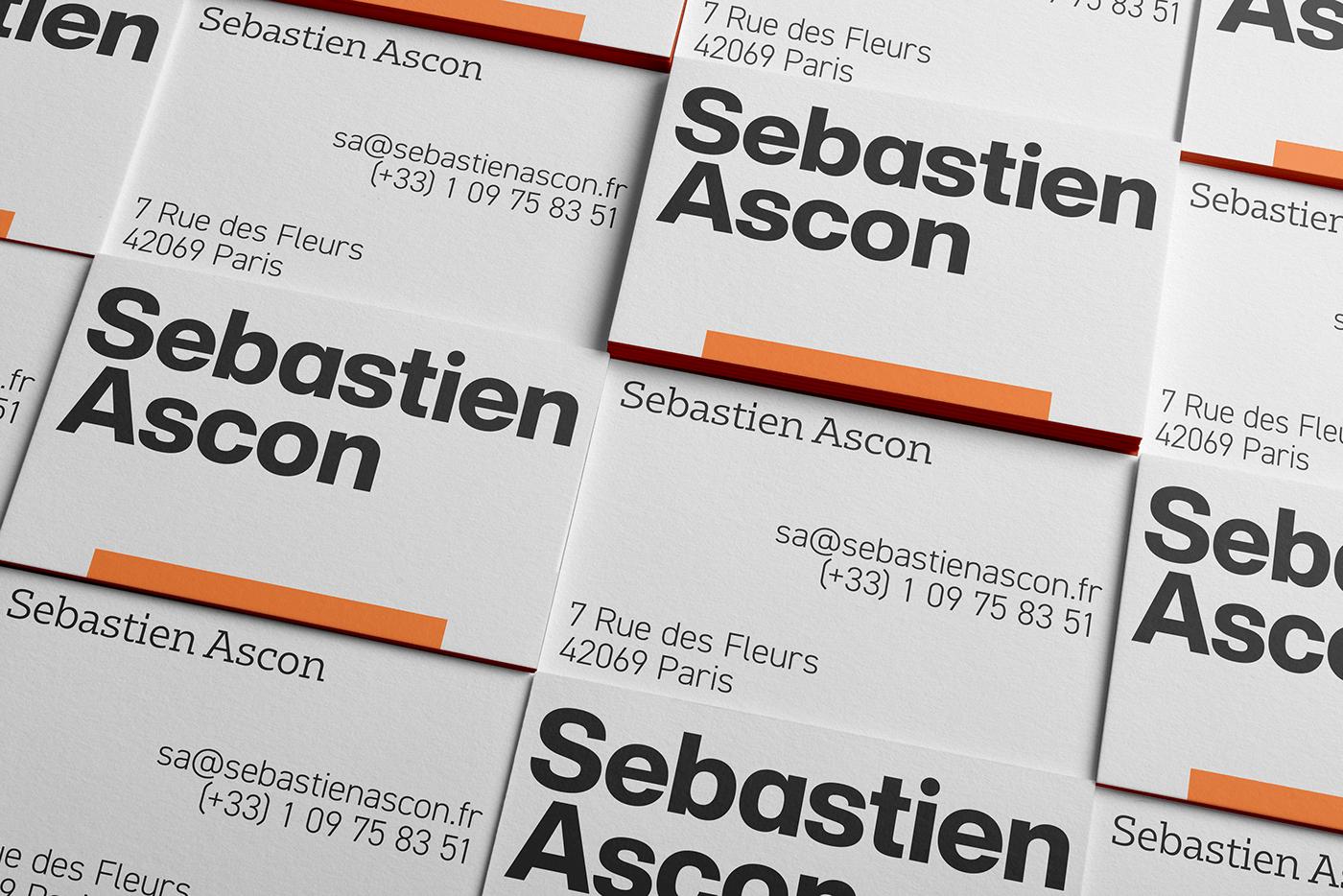 sebastien ascon business cards