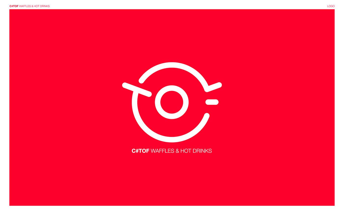 logo identité graphique neon CARTE DE VISISTE menu gobelets Packaging