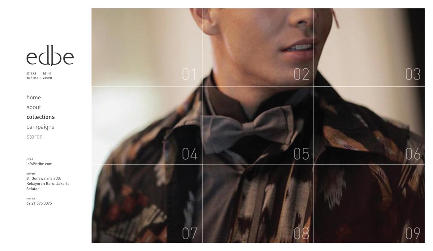 E COMMERCE fashion design webstore EDBE batik kebaya indonesia