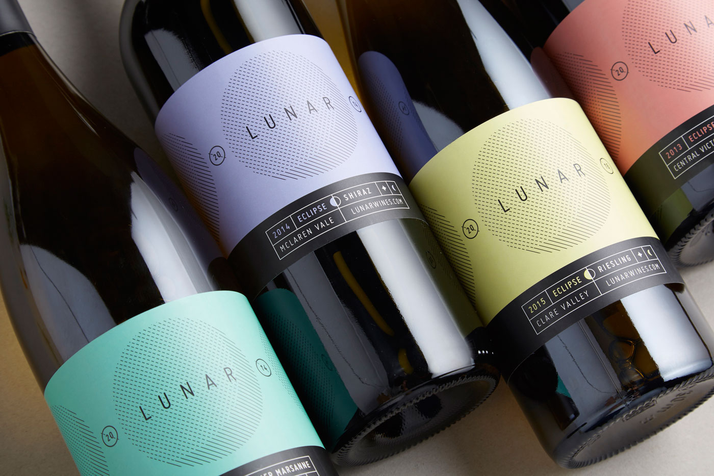 Wine Labels lunar Space  moon Red wine riesling shiraz White Wine