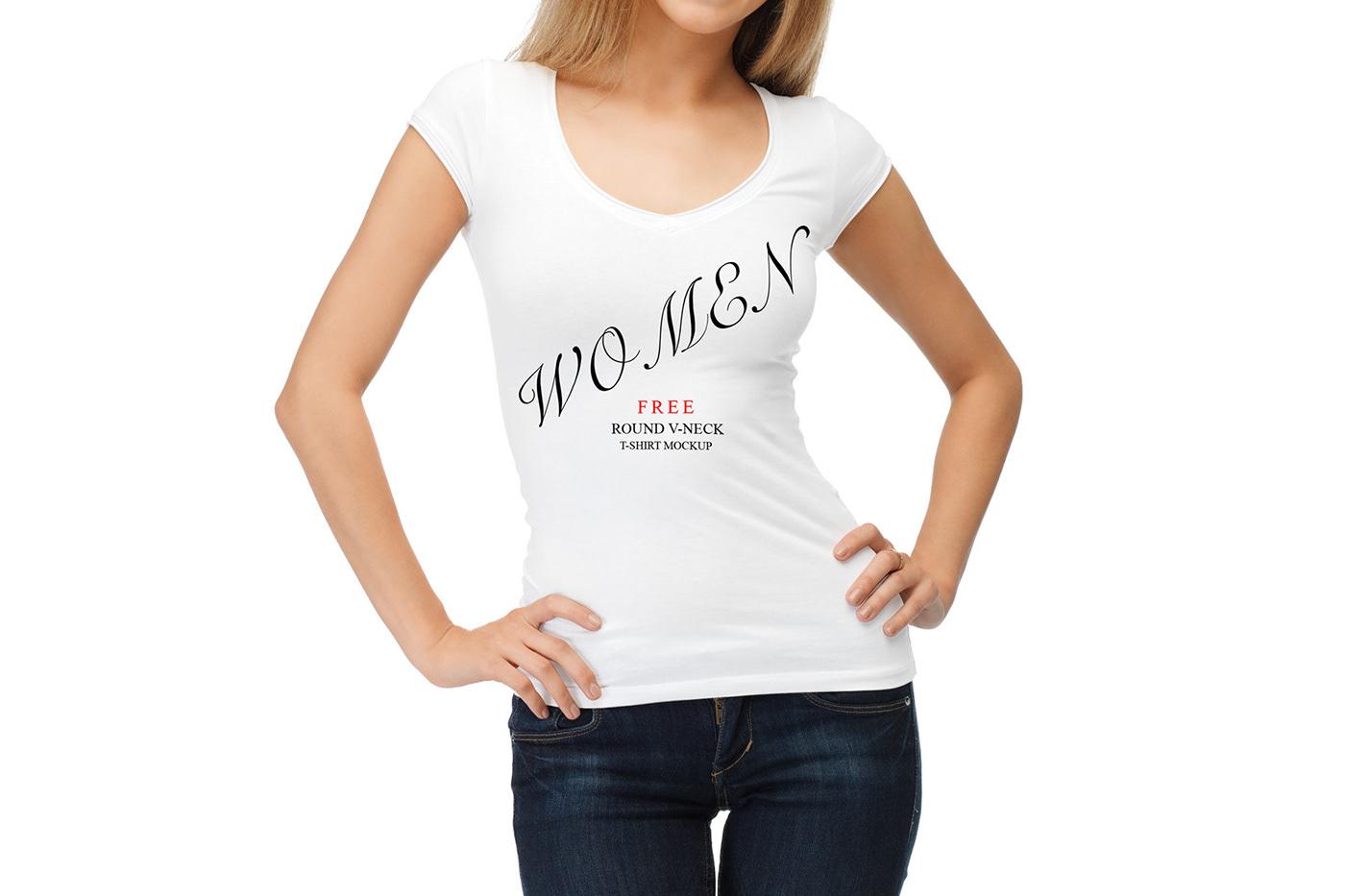 Free Women T Shirt Mockup On Behance