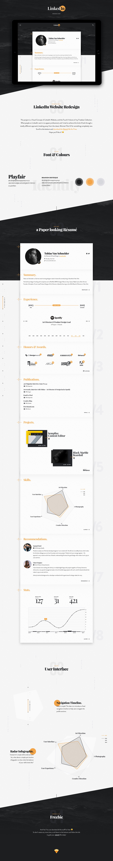 UI ux design Linkedin redesign freebie minimal infographic