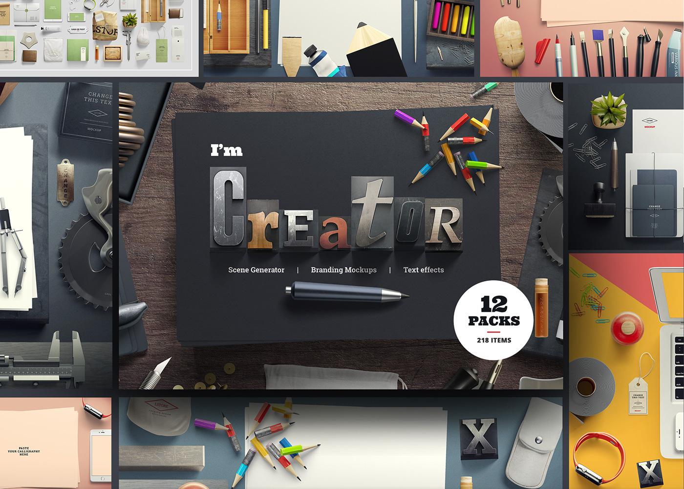 I am Creator — Mockup Scene Generator on Behance