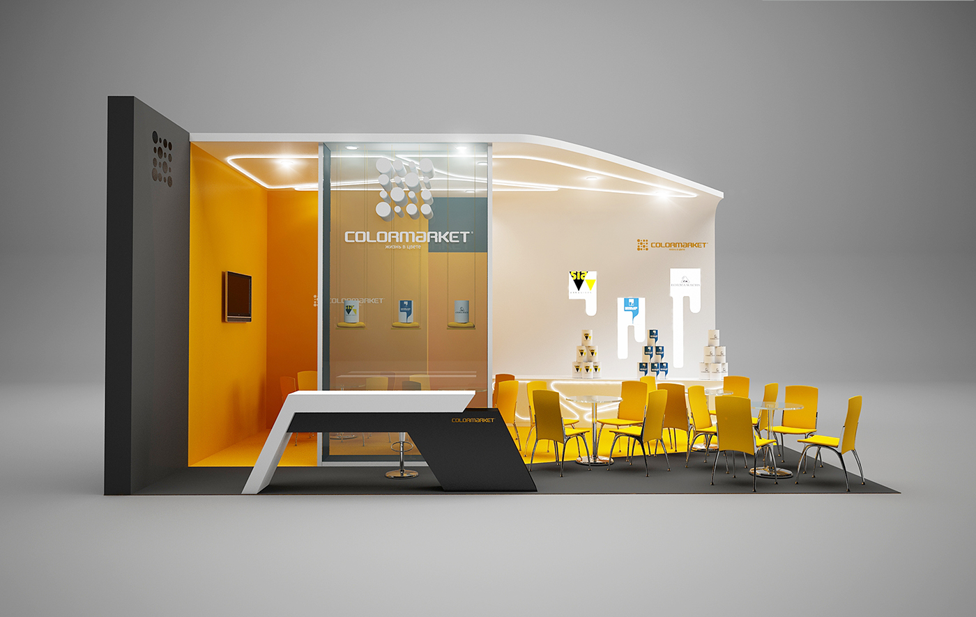 Exhibition Stand Behance : Colormarket exhibition stand on behance