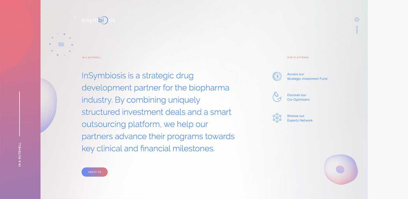 Interaction Design & UI/UX: InSymbiosis Website
