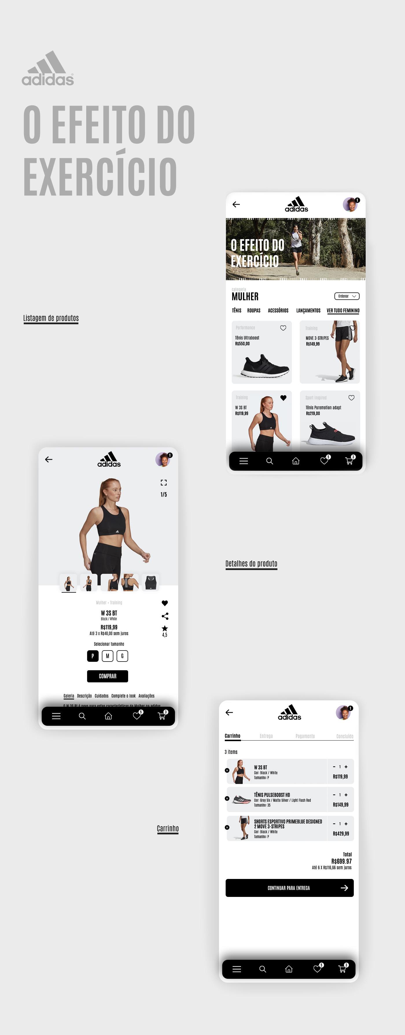 app design Ecommerce Interface shop UI ux