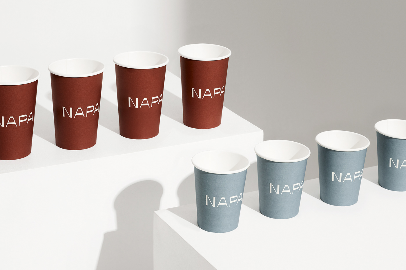 business card coffee cups curves menu Signage tape texture understated warmth