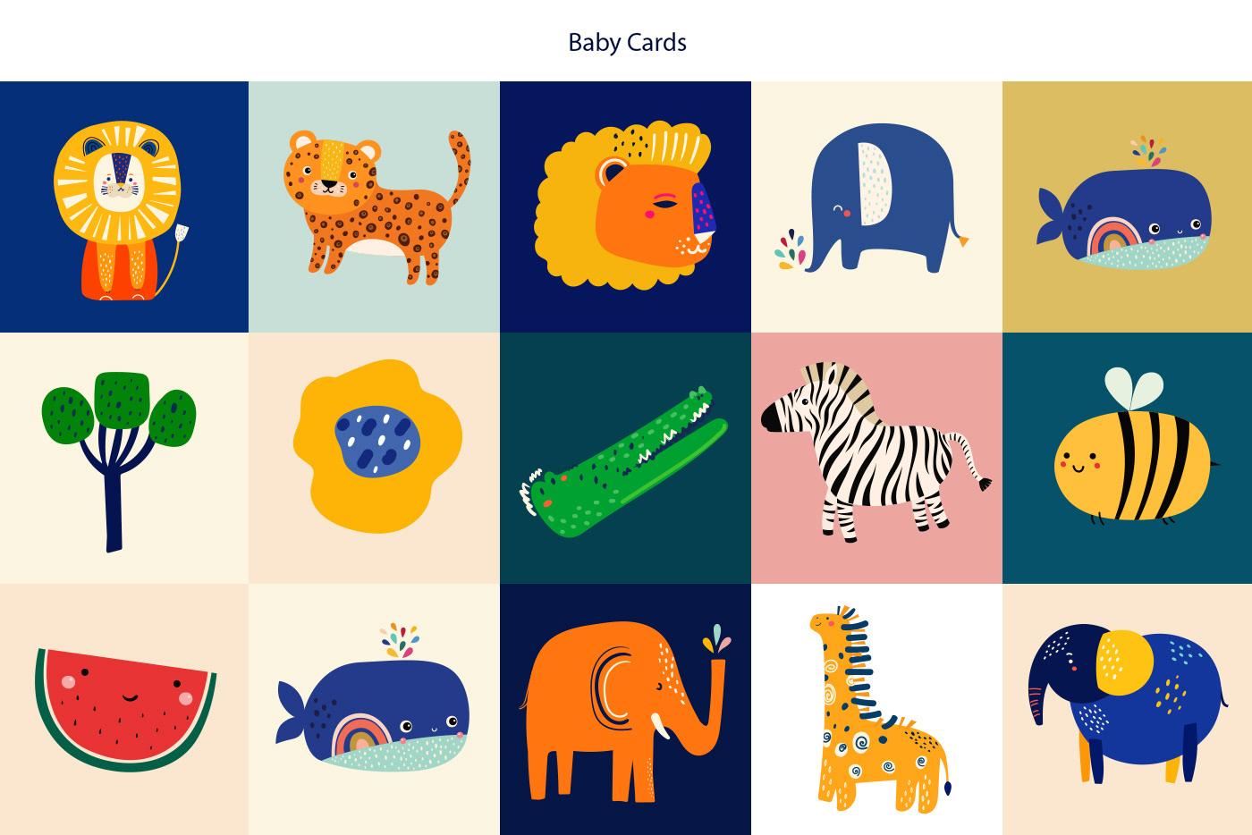 animals baby pattern  Cartoon Illustration childish pattern fabric pattern kids apparel kids design kids pattern seamless pattern surface design