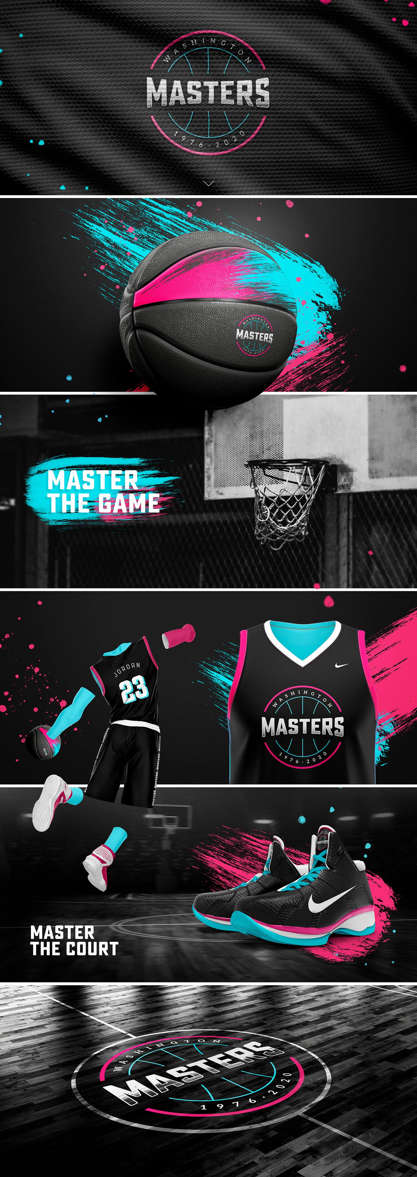 baloncesto basketball color diseño gráfico graphic design  logo Logotipo NBA Nike sport