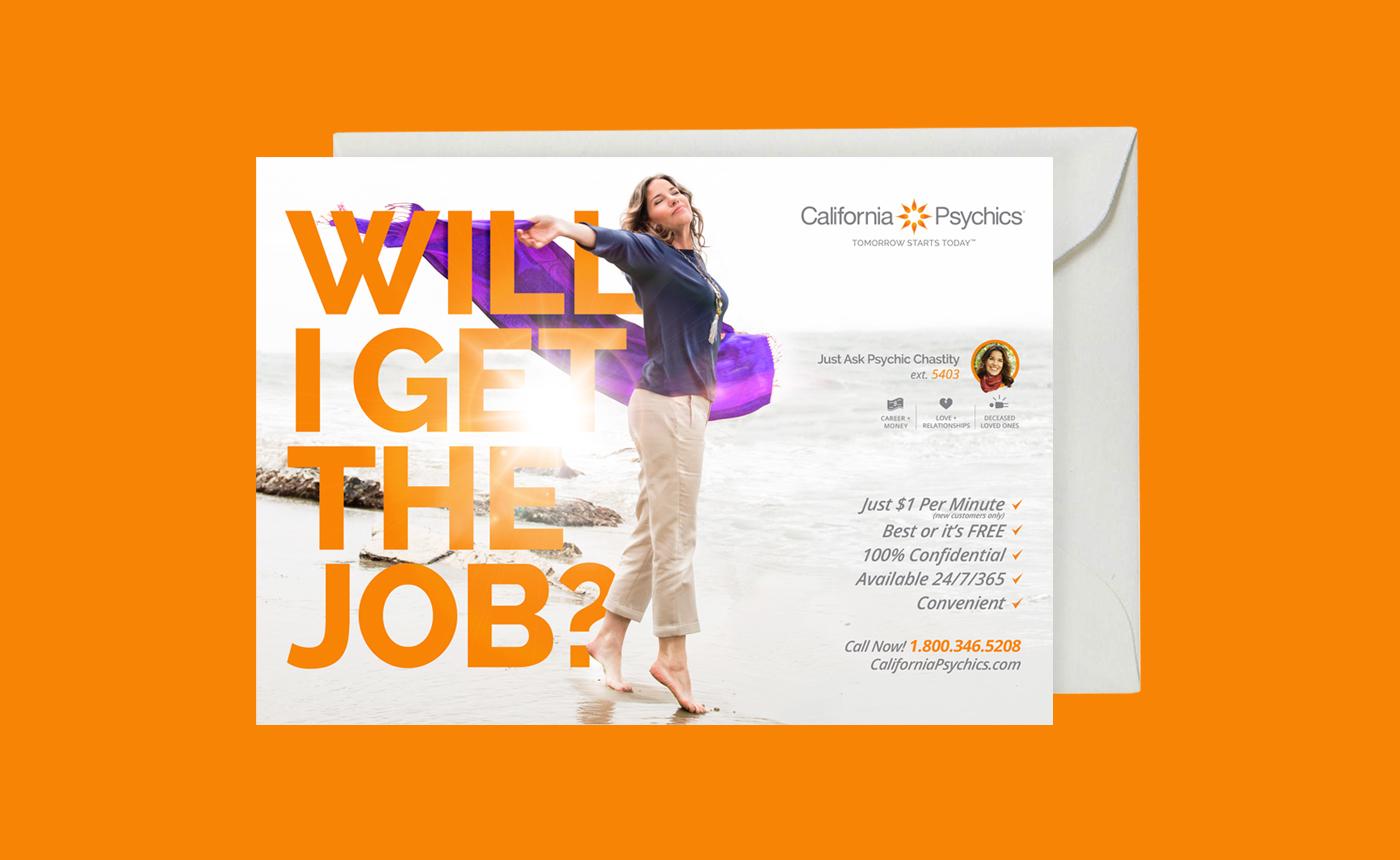 californiapsychics psychics graphic design  tiffany Art Director print ad direct marketing strategy design