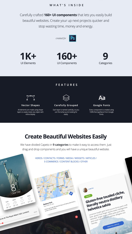 UI kit free Web design e-commerce Header ux widgets Blog