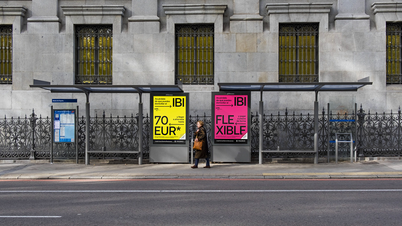 type poster campaing madrid motion editorial graphic color typography