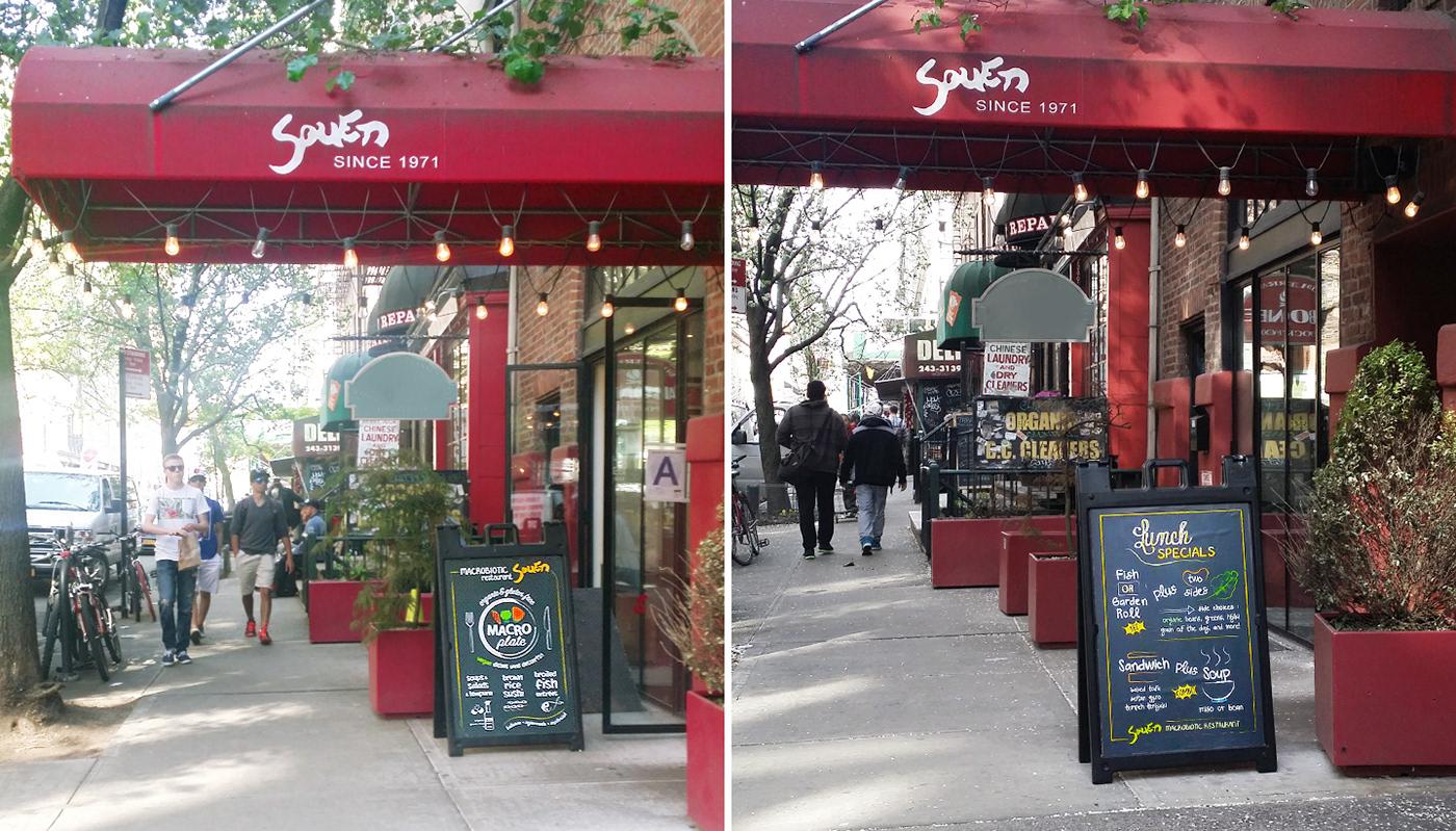 Board menu poster restaurant sidewalk sign Signage