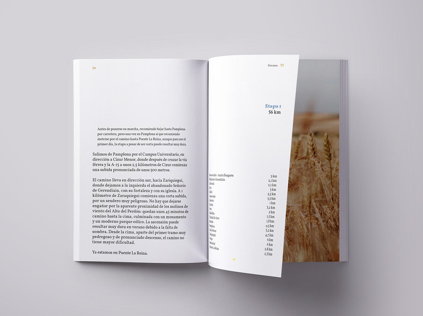 artwork book Camino de Santiago design digital editorial editorialdesign minimal Photography  Travel