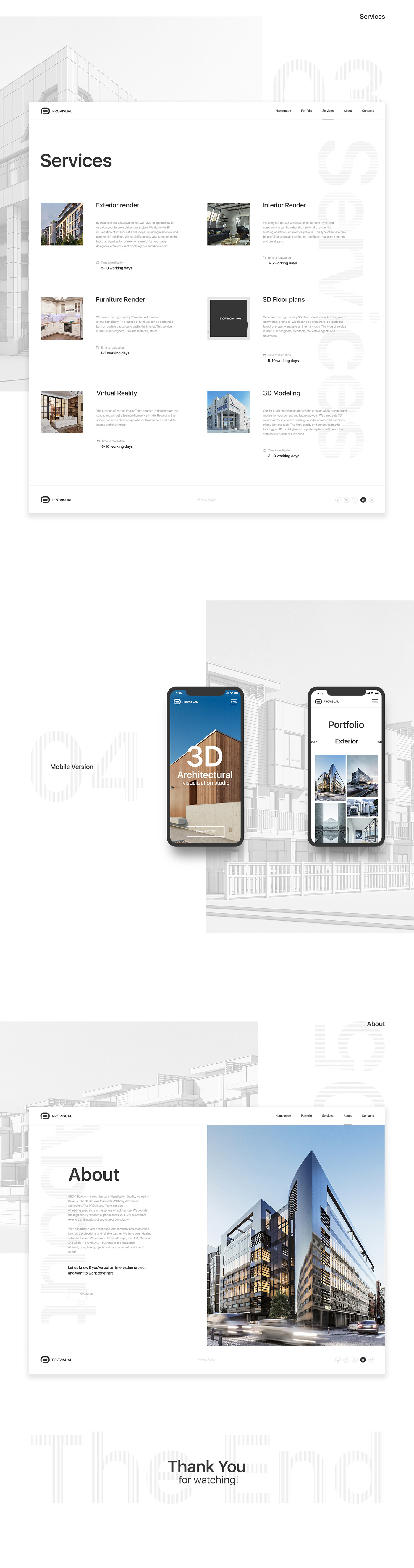 web-design animation  interactive architecture ux UI portfolio Minimalism Website mobile