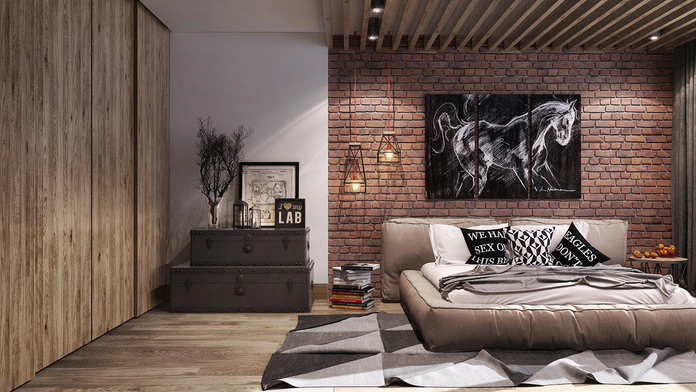 Delicieux Loft Style Bedroom On Behance