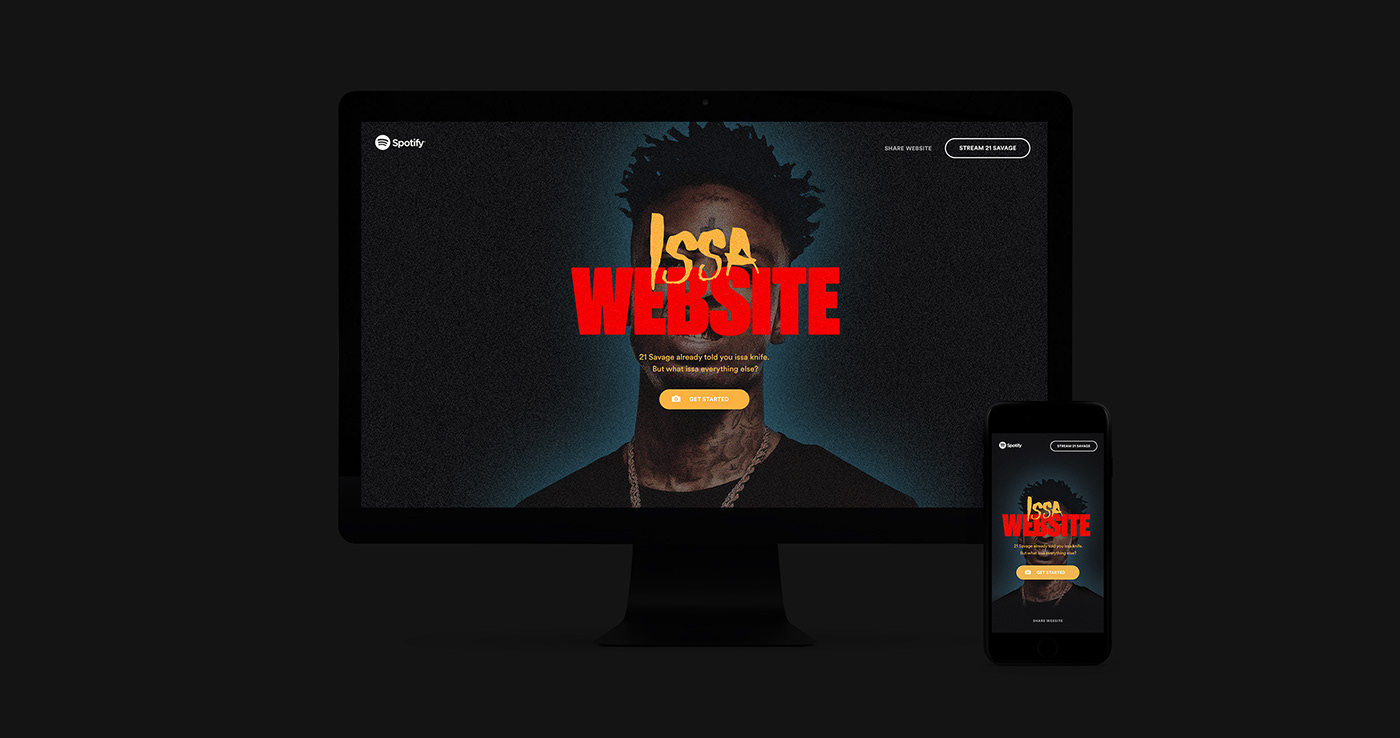 21 savage hip hop rapper spotify machine learning mobile UI music camera ISSA