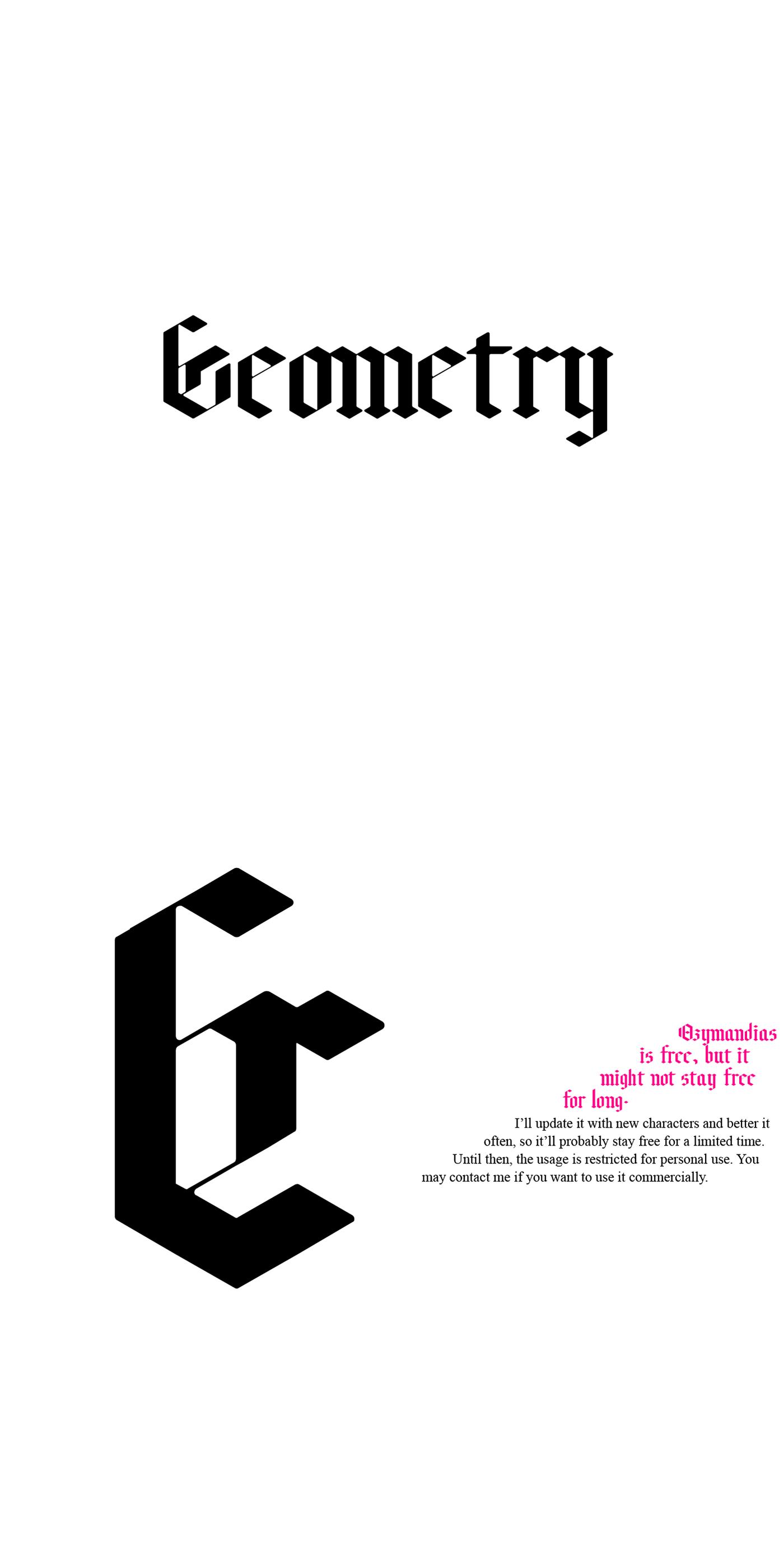 font Typeface free bold Blackletter Fraktur lettering geometry gothic typography