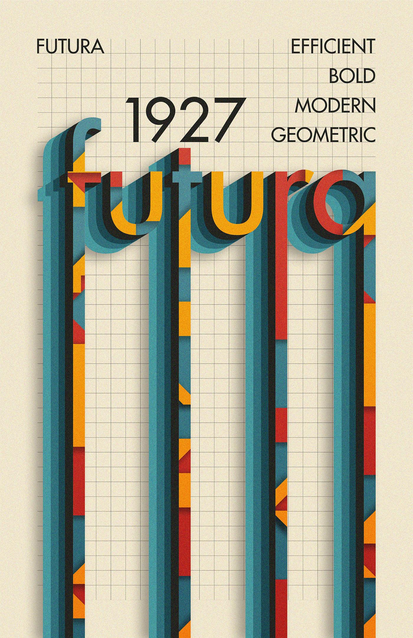 typography   Futura primary New Typography bauhaus modern geometric grid