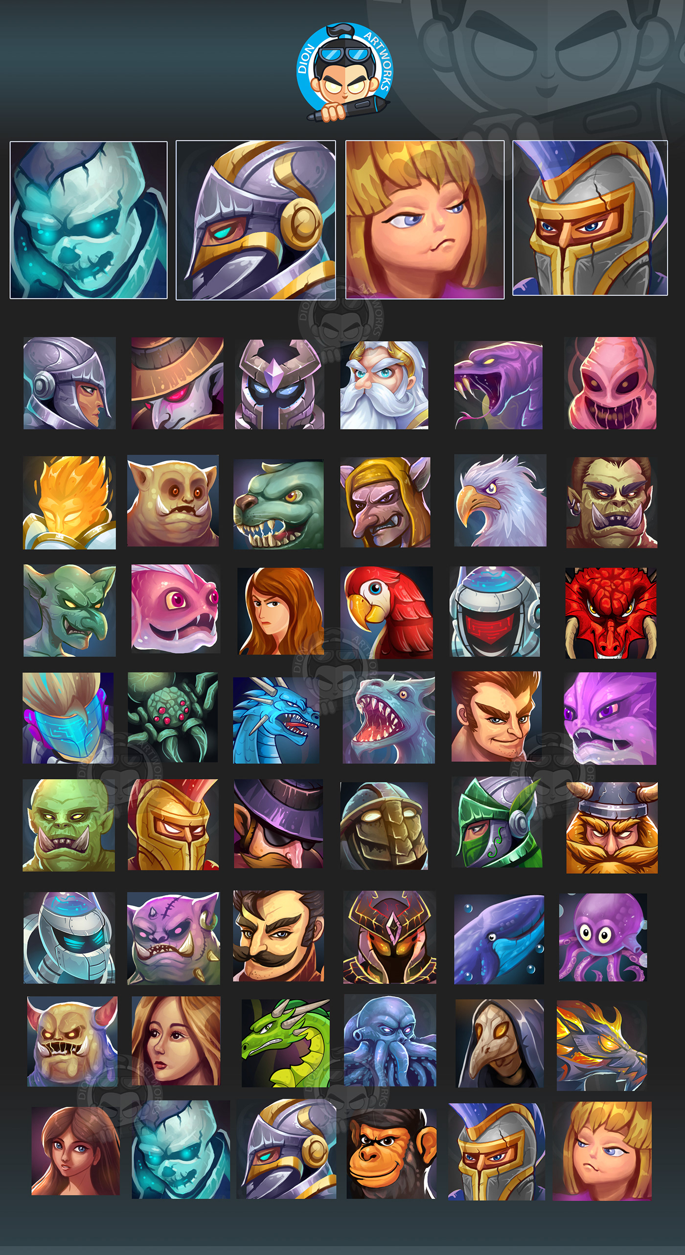 2D assets avatar Character game graphics Icon ILLUSTRATION  mobile UI