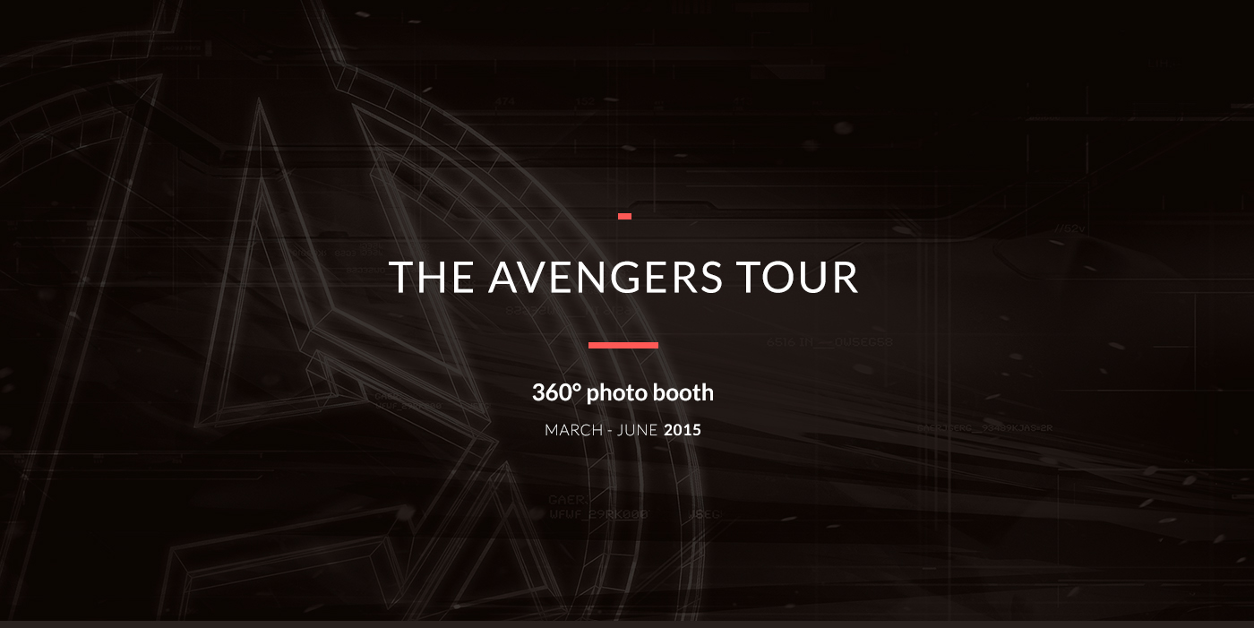 The avengers tour 360 photo booth on behance for Tour avengers