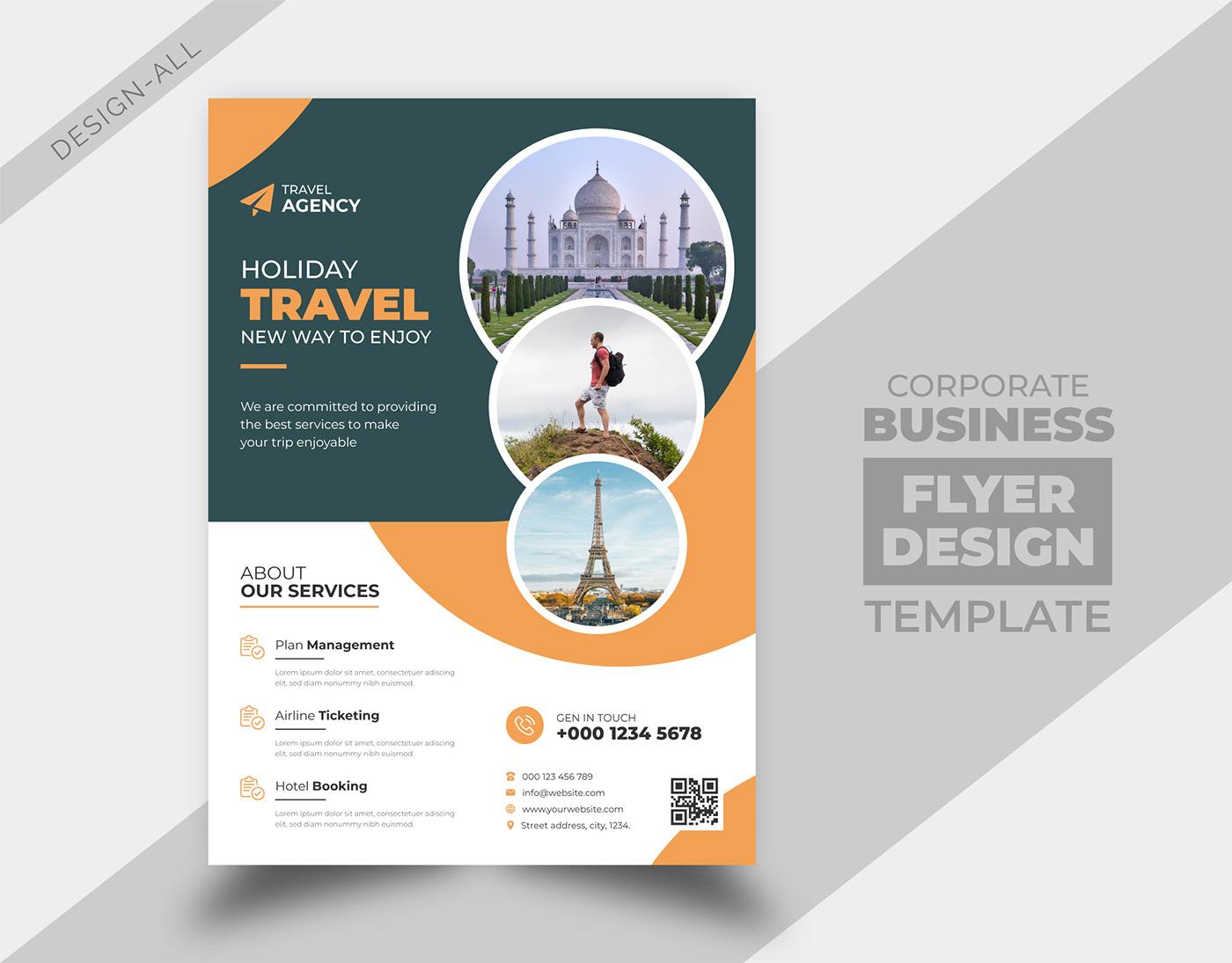 brochure business cover design flyer leaflet magazine poster template Travel Flyer