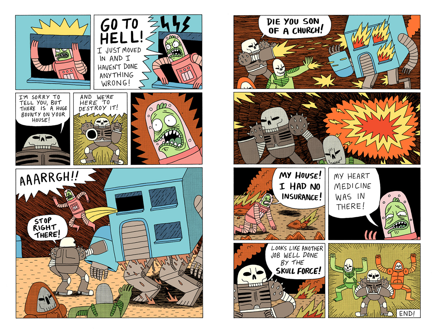 the wrong house comic