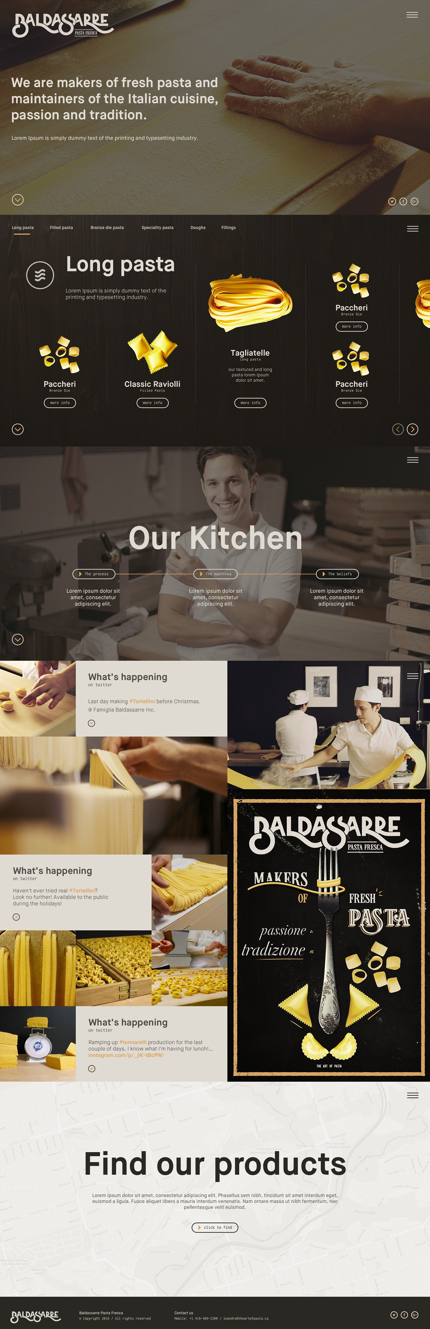 Pasta Food  logo identity visualid  baldassarre dinner lunch italian cuisine