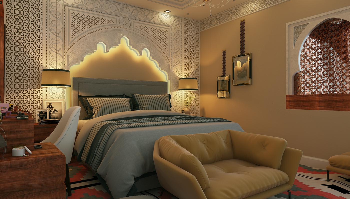 master bedroom moroccan arabian style on behance