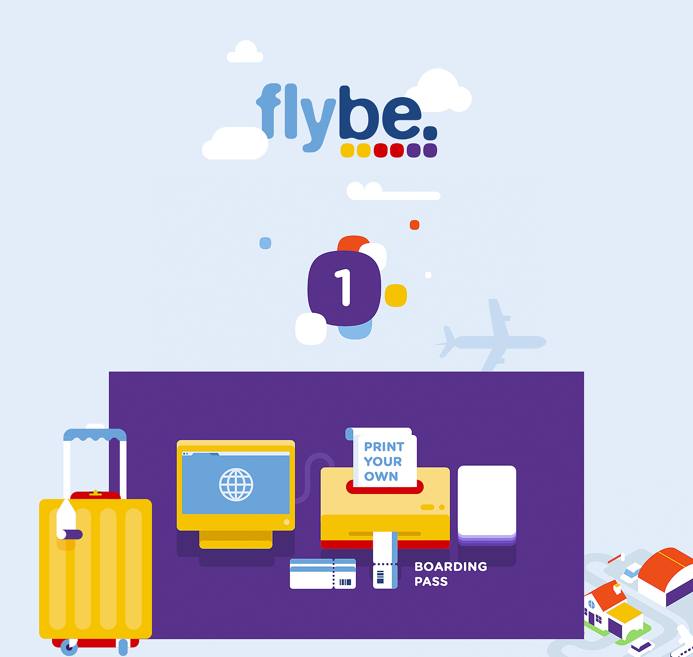 Flybe on behance for Geometricity project