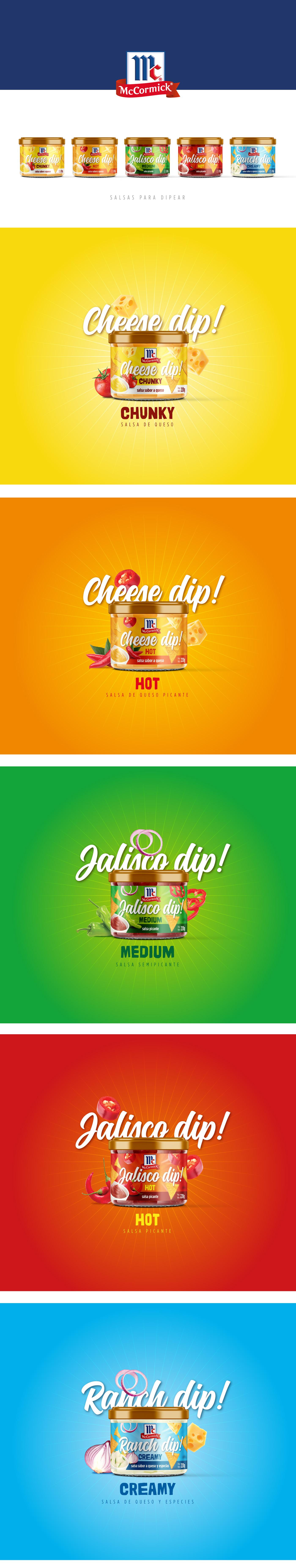 mc cormick Dip sauce Cheese jalisco alimec Ecuador Packaging Workshop design