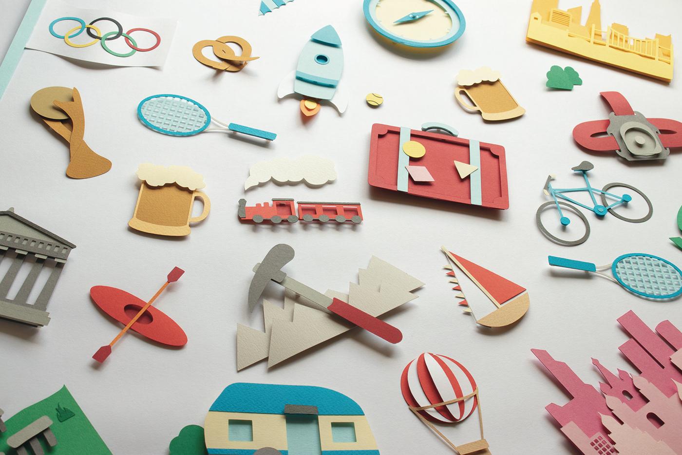 card game,Games,Travel,travel illustration,paper art,paper craft,paper