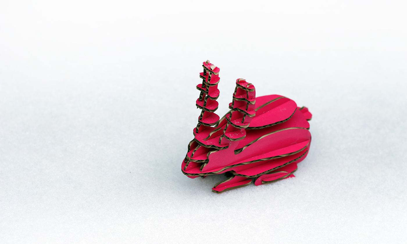 parametric cardboard animals craft toys sculpture