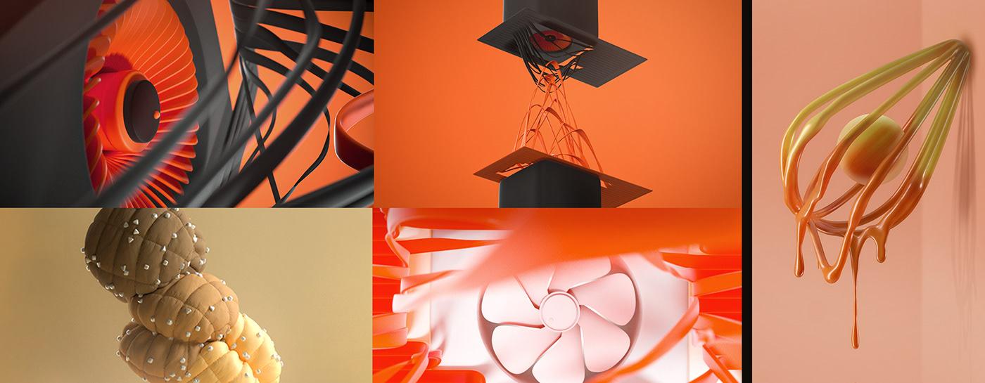 animation  c4d CG CGI cinema 4d design houdini melting motion vellum
