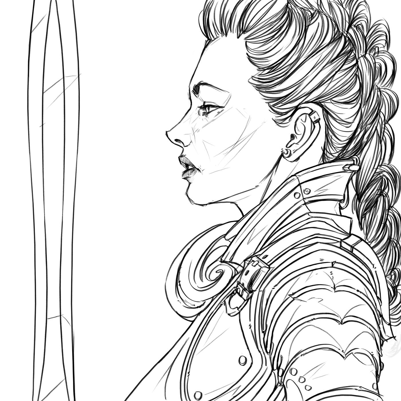 Warrior Girl On Behance