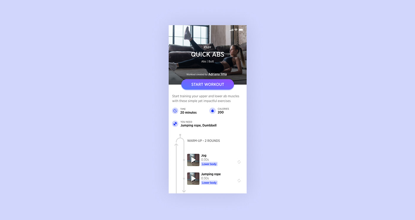 app design fitness ux UI mobile