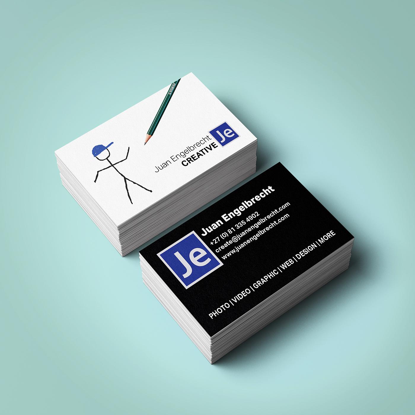 Juan engelbrecht creative business card design on behance reheart Image collections