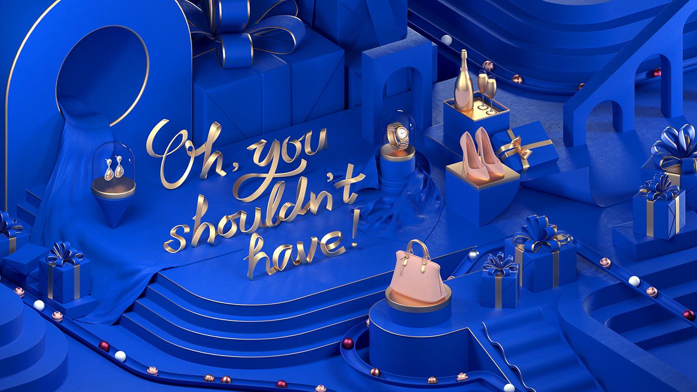 marina MBS marina bay sands Christmas machineast luxury premium gold ribbon Retail