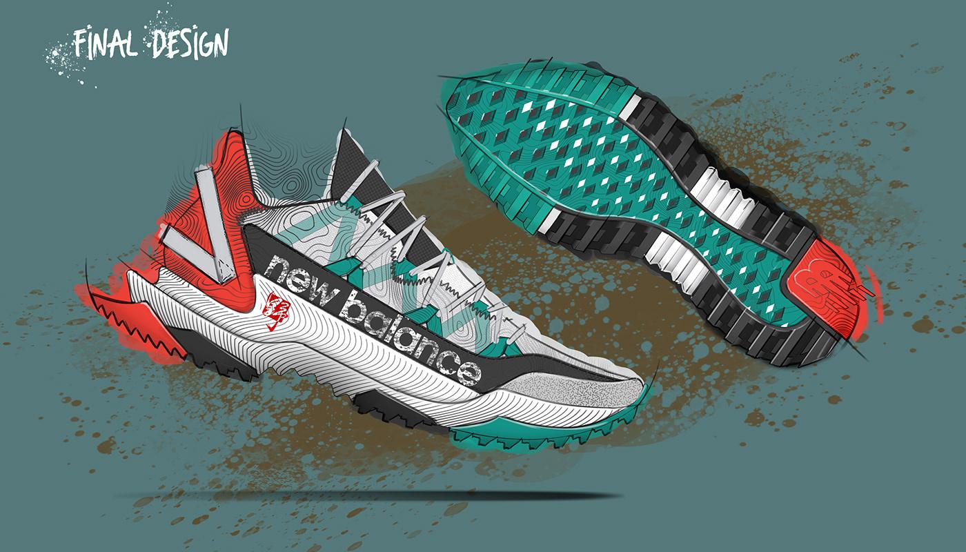 concept design footwear footwear design industrial design  logo New Balance product sneakers