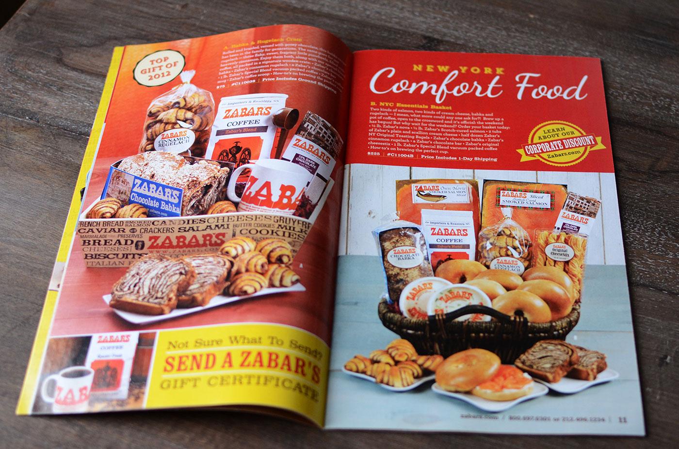 Zabar's Catalog Design