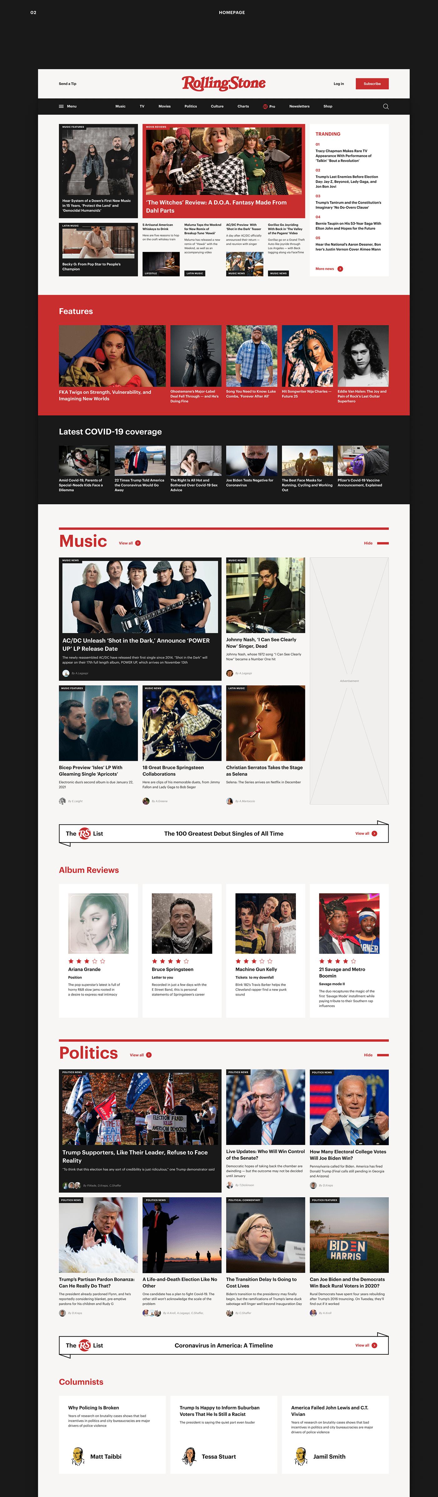 animation  concept interaction magazine news redesign UI uiux user interface Webdesign
