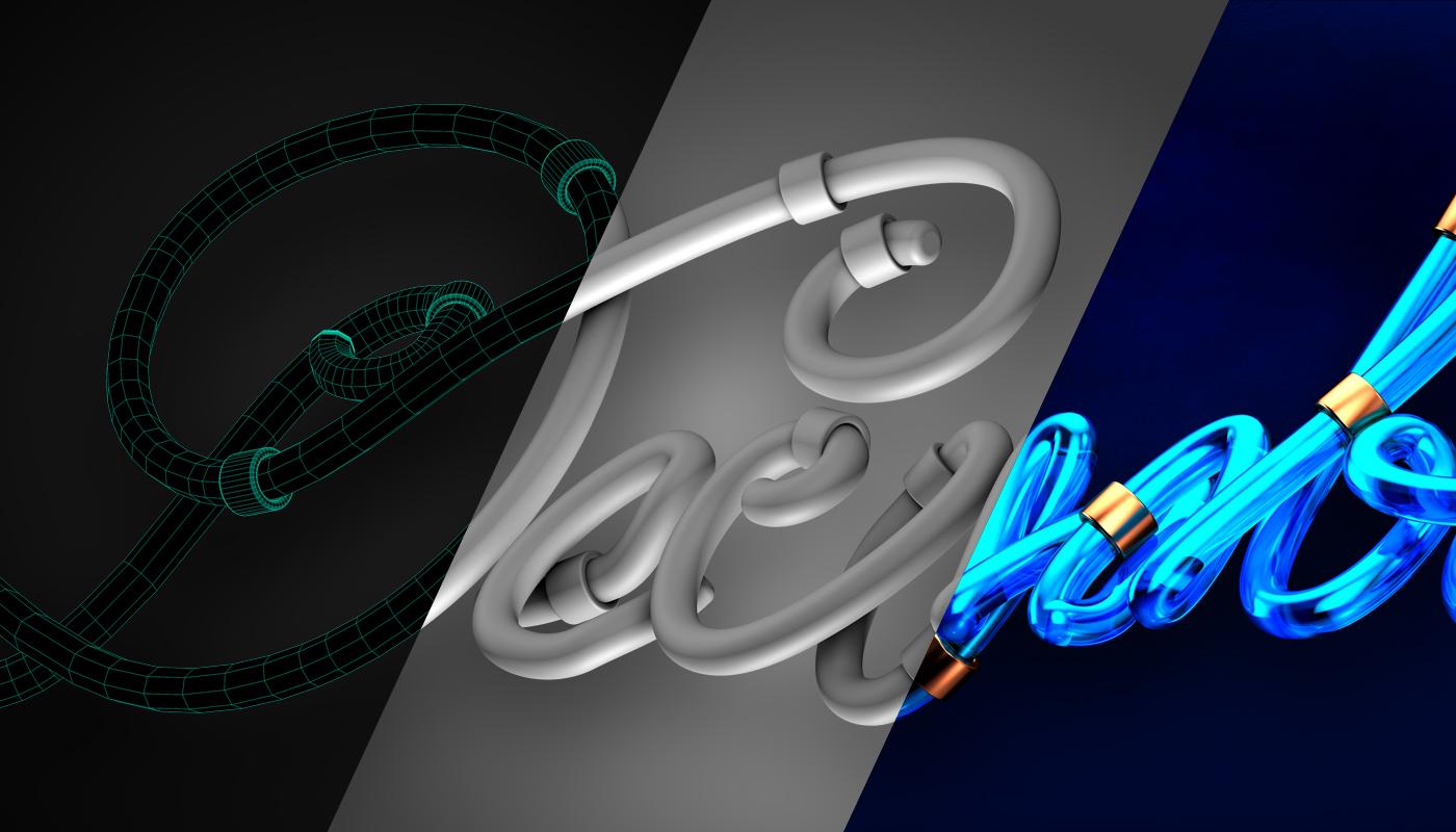 December cinema 4d typography   3D Type 3D typography