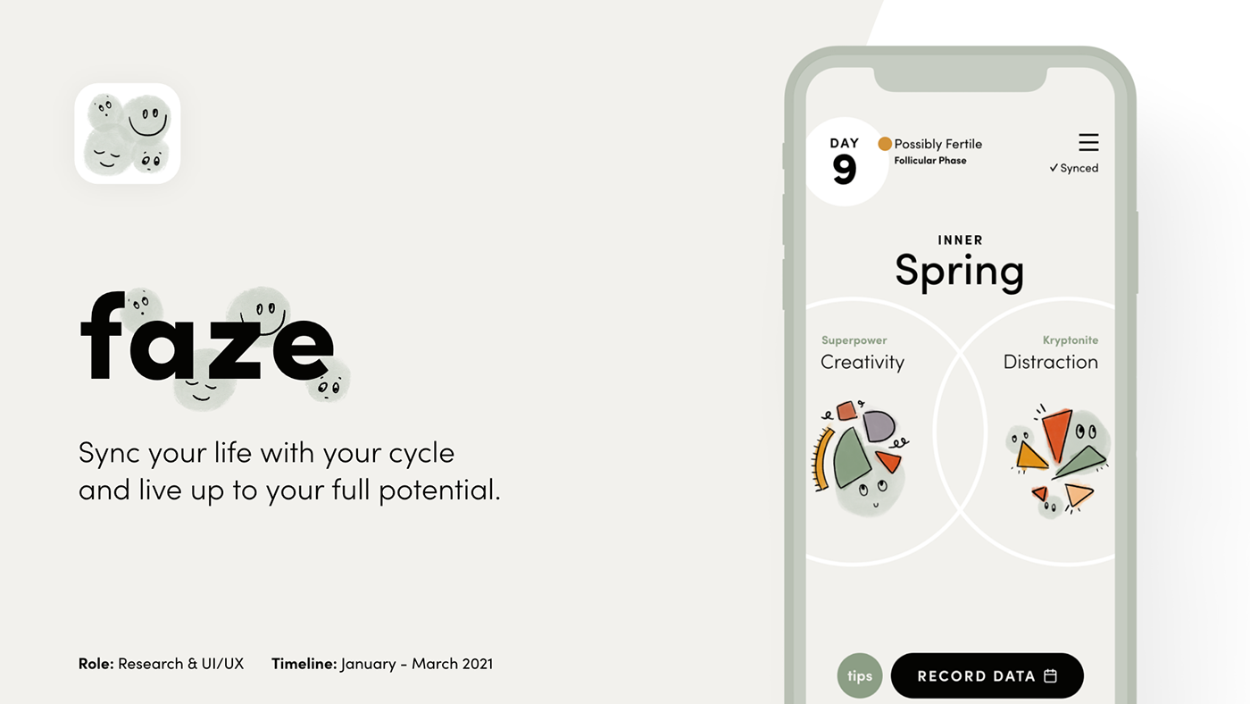 app design,cycle app,interface design,period tracker app,UI/UX Design,user experience,wellness app,women's health app,Microinteractions,Prototyping
