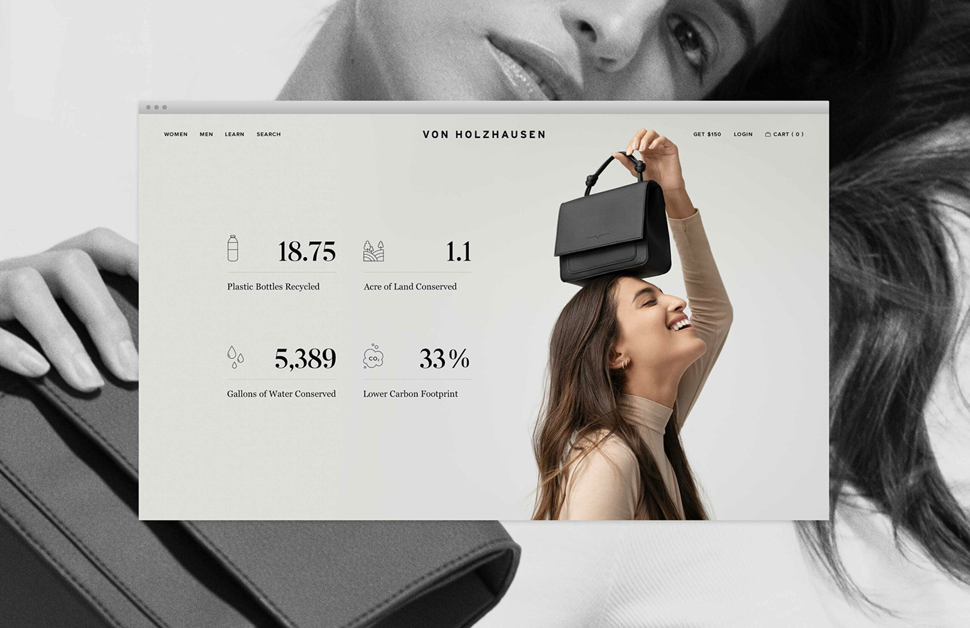 accessories campaign Campaign Strategy Fashion  luxury Product campaign product launch Sustainability Website