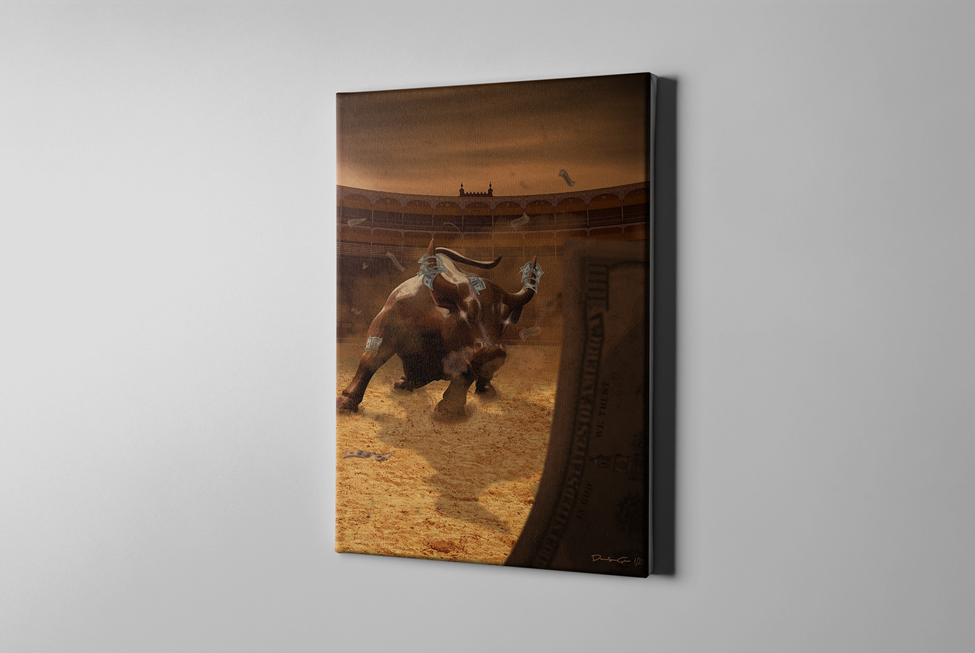 Rampant photo manipulation canvas print. DesignGeo