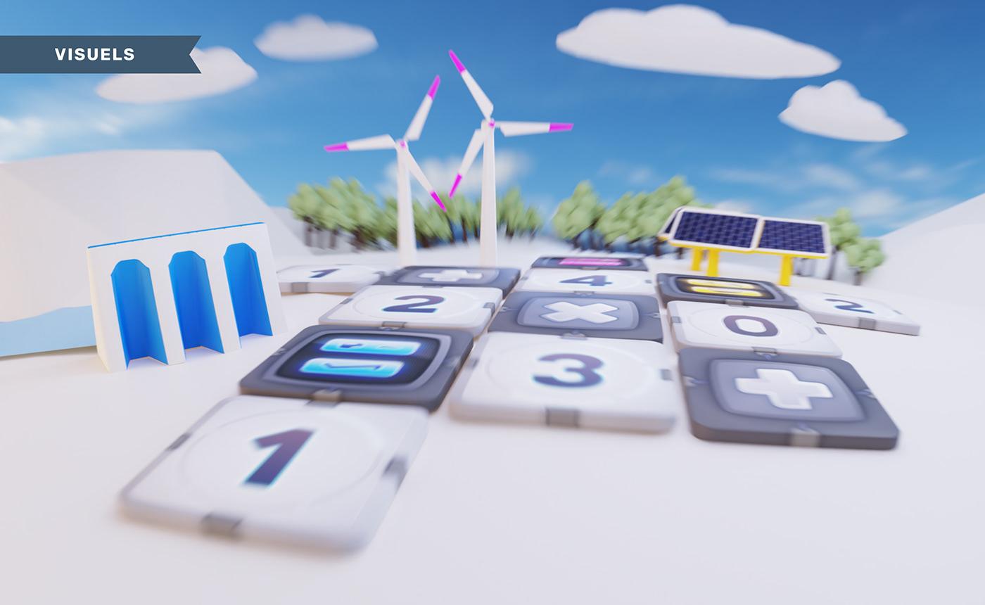 Modèle 3D pour la promotion du jeu de société Picobo.