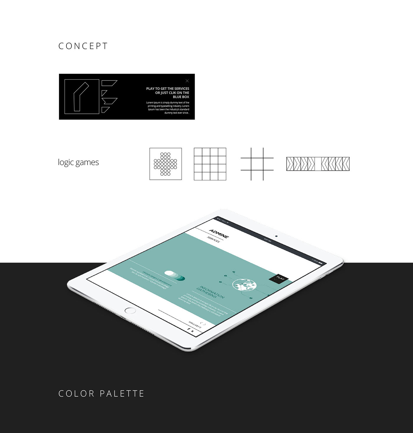 Admine Website Design On Behance Diagram Logic Games