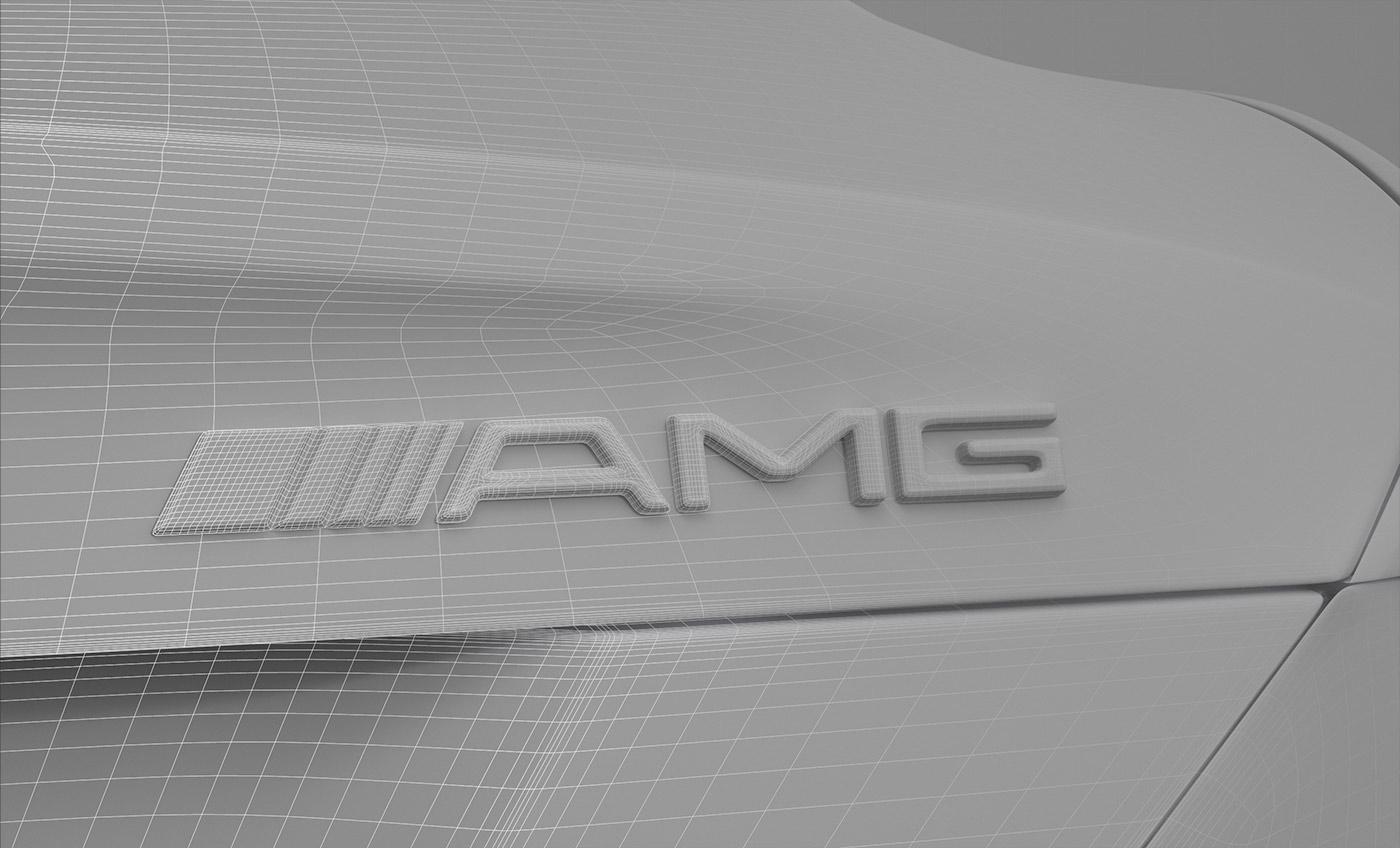 Mercedes SLK AMG automotive   badge 3D vray Visualising car